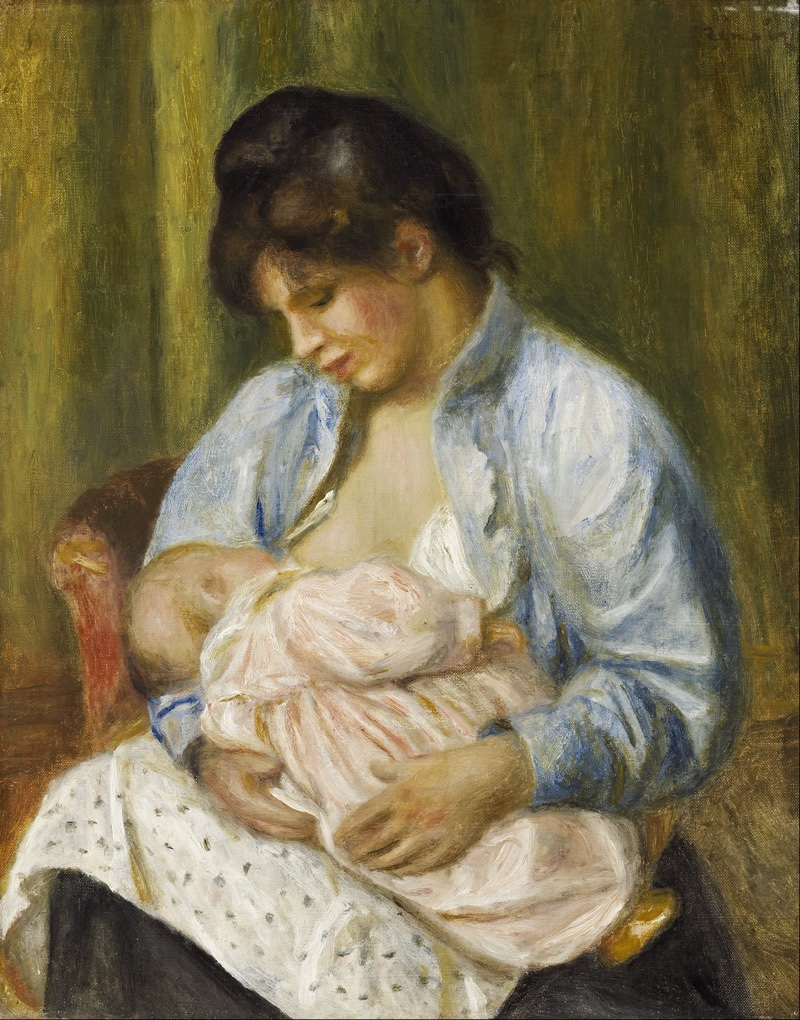 Renoir breastfeeding art
